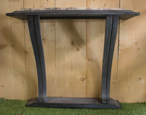 Vintage Art Deco French Sapele Console Table, 1920s