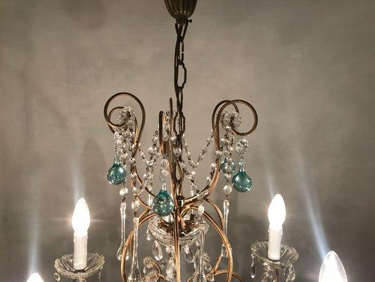 Lampadari Di Murano Antichi Prezzi.Lampadario Antico In Cristallo E Vetro Di Murano Italia Anni 50
