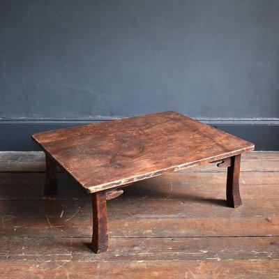 Antique Japanese Cedar Chabudai Coffee Table For Sale At Pamono