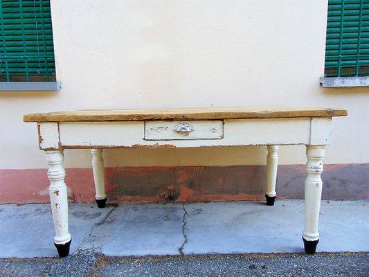 Mesa de comedor rústica Mid-Century de abeto, años 40