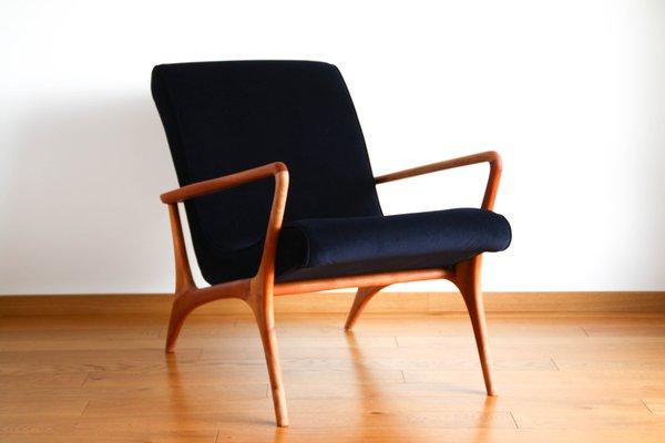 Groovy Mid Century Teak Velour Contour Lounge Chair By Vladimir Kagan 1953 Unemploymentrelief Wooden Chair Designs For Living Room Unemploymentrelieforg