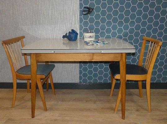 Tavolo da cucina Mid-Century allungabile, anni \'50