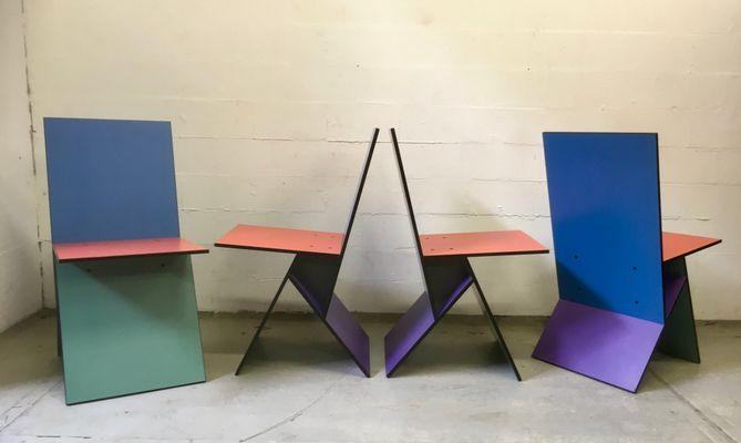 Sillas de comedor Vilbert de Verner Panton para Ikea, 1993. Juego de 4