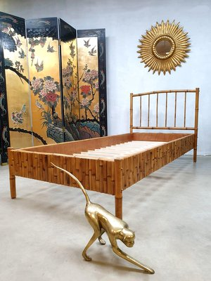 Vintage Tropical Style Bamboo Daybed, Tropical Style Furniture
