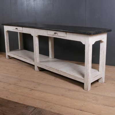 Antique Wooden Narrow Console Table