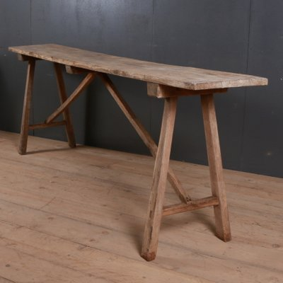 Antique French Oak Trestle Table For Sale At Pamono