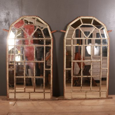 Antique Metal Window Style Mirrors Set Of 2 For Sale At Pamono