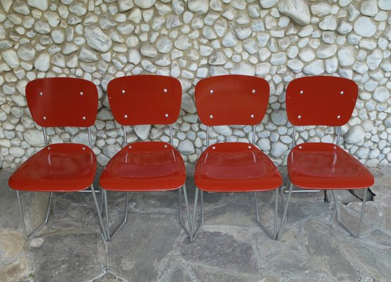 Mid Century Aluminum Birch Aluflex Dining Chairs By Armin Wirth For Ph Zieringer Kg Set Of 4 For Sale At Pamono