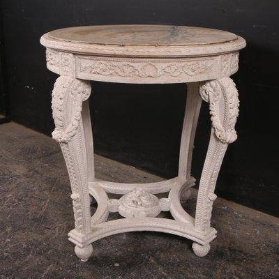 Mesa de comedor francesa antigua de madera