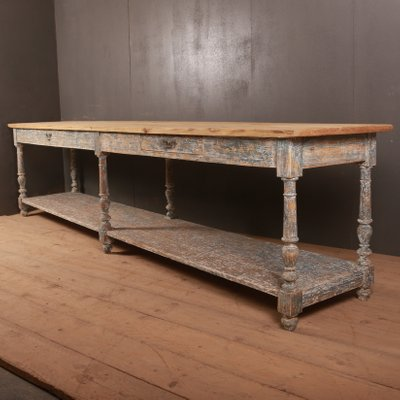 Antique French Wooden Console Table For