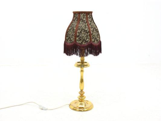 Lampada da tavolo vintage in metallo, anni '70