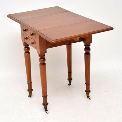 huge selection of 4b154 1d5bf Antique Victorian Mahogany Drop-Leaf Side Table