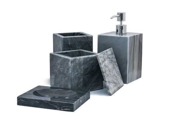 Grey Bardiglio Marble Bathroom Set From Fiammettav Home Collection For Sale At Pamono
