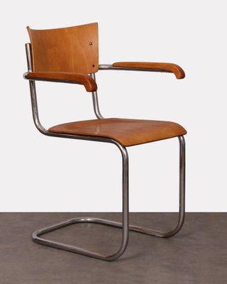 De Bureau Chrome Stam Et Par Chaise Mart Kovona1940s Pour Contreplaqué En Plaqué Moderniste sQothBCxrd