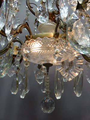 French antique crystal glass chandelier by Baccarat