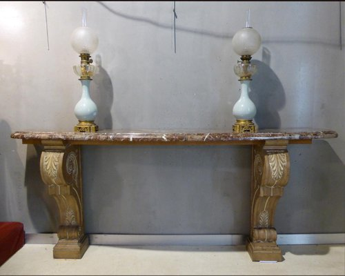 Vintage Console Table, 1940s