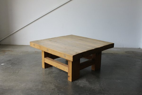 Solid Pine Coffee Table.Danish Solid Pine Coffee Table By Jens Lyngsoe 1980s