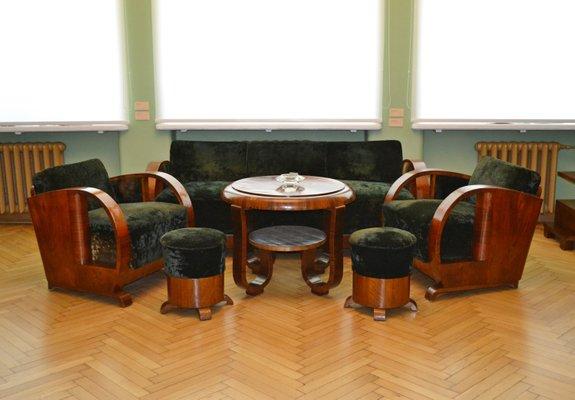 Art Deco Living Room Set, 1920s for sale at Pamono