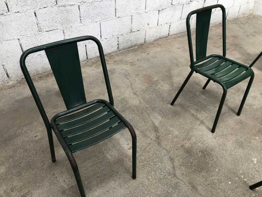 Amazing Industrial French Metal T4 Dining Chairs By Tolix 1960S Set Of 9 Machost Co Dining Chair Design Ideas Machostcouk