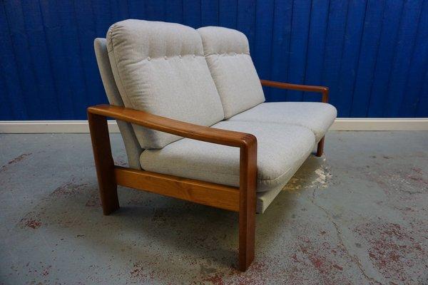 Incredible Scandinavian Modern Danish Teak And Tweed Sofa 1970S Onthecornerstone Fun Painted Chair Ideas Images Onthecornerstoneorg