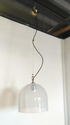 Lampadari in ottone e vetro di La Murrina, anni \'70, set di 2