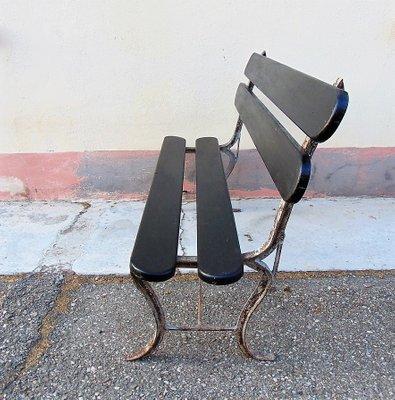Sedie In Ferro E Legno.Sedia Da Giardino Mid Century In Ferro E Legno Anni 50 In