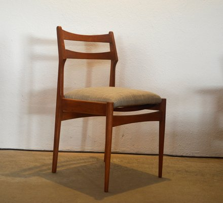 Italian Modern Wooden Dining Chairs 1970s Set Of 2