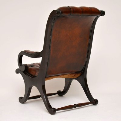 Cool Regency Style Leather And Mahogany Armchair 1930S Frankydiablos Diy Chair Ideas Frankydiabloscom
