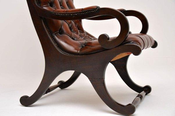 Fantastic Regency Style Leather And Mahogany Armchair 1930S Frankydiablos Diy Chair Ideas Frankydiabloscom