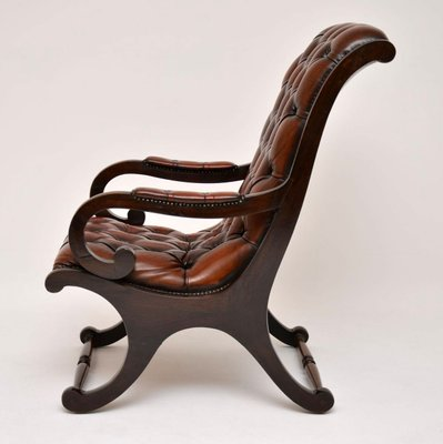 Sensational Regency Style Leather And Mahogany Armchair 1930S Frankydiablos Diy Chair Ideas Frankydiabloscom