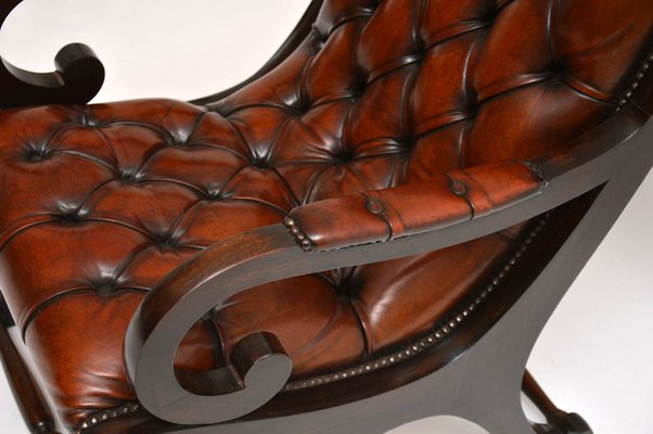 Pleasant Regency Style Leather And Mahogany Armchair 1930S Frankydiablos Diy Chair Ideas Frankydiabloscom