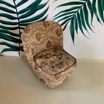 Groovy Vintage Tub Chair On Castors 1950S Evergreenethics Interior Chair Design Evergreenethicsorg