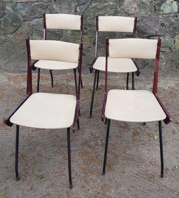 Sedie In Ferro E Legno.Sedie Moderne In Ottone Ferro E Legno Italia Anni 60 Set Di 4