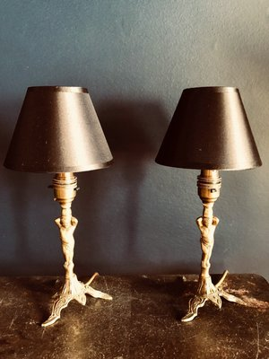 Vintage Table Lamps 1930s Set Of 2