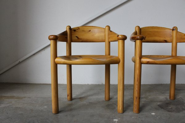Danish Solid Pine Dining Chairs By Rainer Daumiller For Hirtshals