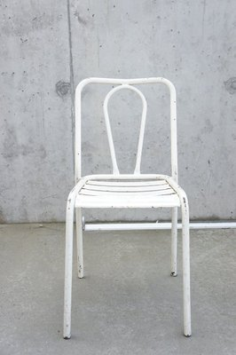 Excellent White Metal Chairs From Tolix 1950S Set Of 6 Theyellowbook Wood Chair Design Ideas Theyellowbookinfo