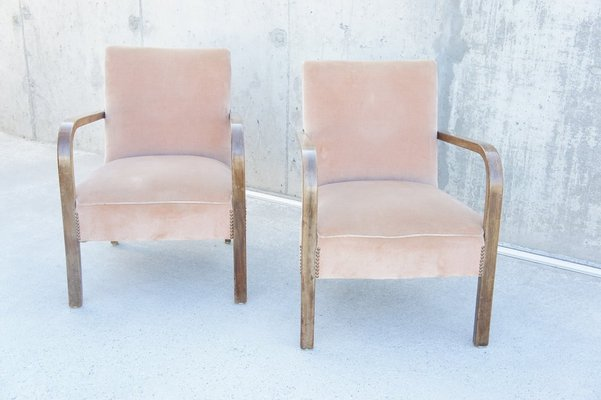 Phenomenal Mid Century Bentwood Lounge Chairs 1920S Set Of 2 Machost Co Dining Chair Design Ideas Machostcouk