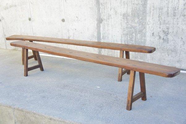 Vintage Oak Benches 1950s Set Of 2 Bei Pamono Kaufen