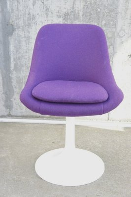 16080506c5586 Mid-Century Purple Swivel Chairs, 1970s, Set of 2 for sale at Pamono
