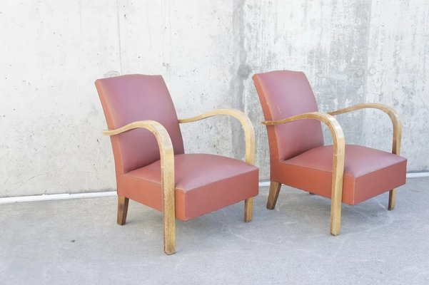 Sensational Bentwood Moustache Lounge Chairs 1940S Set Of 2 Spiritservingveterans Wood Chair Design Ideas Spiritservingveteransorg