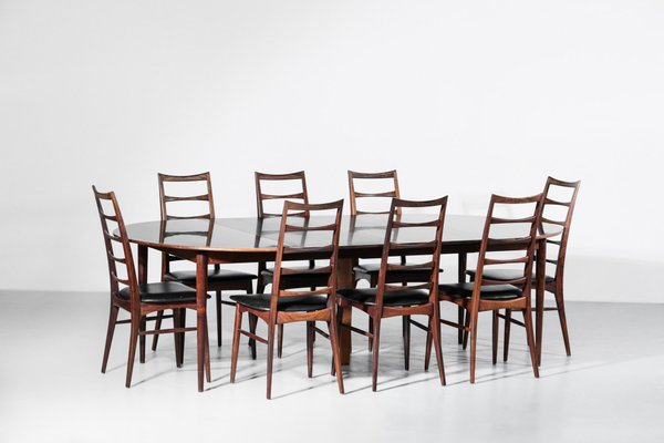 Danish Rosewood Dining Table By Grete Jalk 1960s