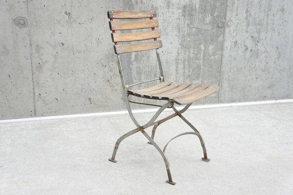 En Bois1930s Chaise Et Pliante Vintage Métal WDbeHYE29I