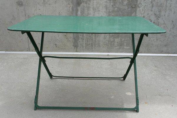 Tavolo Da Giardino Metallo.Tavolo Da Giardino Mid Century In Metallo Anni 50 In Vendita Su