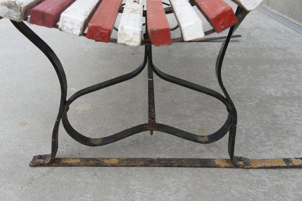 Chaise de Jardin Mid-Century en Métal et Bois, 1960s