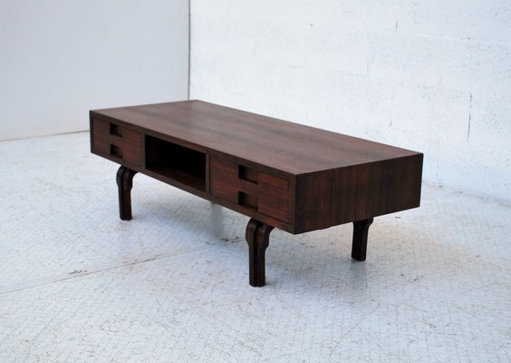 Wooden Coffee Table.Italian Wooden Coffee Table 1970s