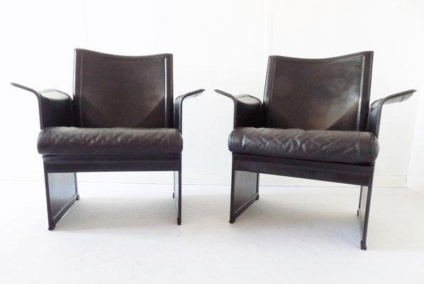 Matteo Grassi Design.Korium Lounge Chairs By Tito Agnoli For Matteo Grassi 1970s Set Of 2