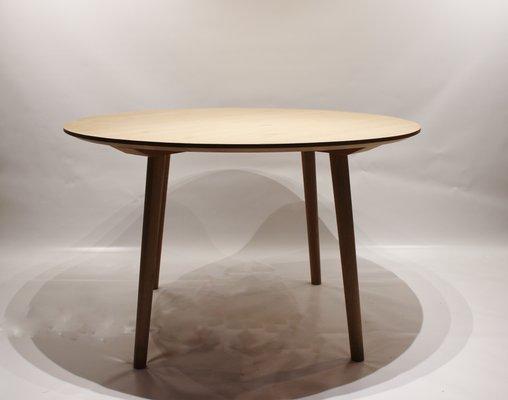 Round Vintage Danish Oak Dining Table