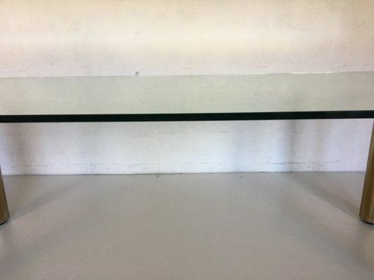 Tavolo da pranzo moderno in vetro e acciaio di Marco Zanuso per Zanotta,  Italia, anni \'70