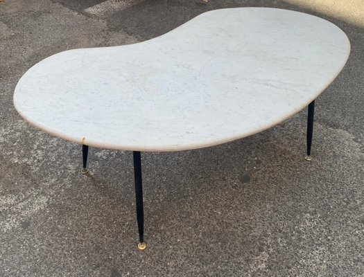 Delicieux Mid Century Italian Marble Coffee Table, 1950s