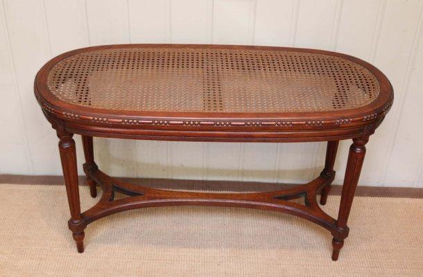 Magnificent Antique French Walnut Cane Window Seat Theyellowbook Wood Chair Design Ideas Theyellowbookinfo